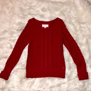 American Eagle Red Thick Sweater